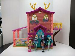 Enchantimals Cozy Deer House With 4 Dolls And Lots Of Accessories