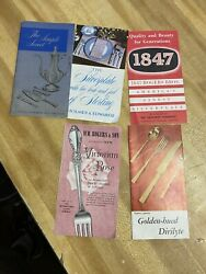 Antique Silverware 5 Product Booklets Free Shipping