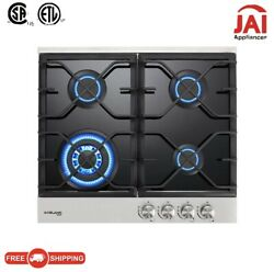 Refurbished Gasland Chef Gh60bf 24and039and039 Built-in Gas Stove Top With 4 Sealed Burner
