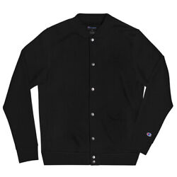Stay Hungry Embroidered Champion Bomber Jacket