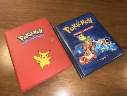 Pokemon Card Base Set Complete 2x Vintage Albums 1st Editions Shadowless 102/102