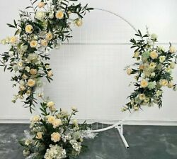 Stage Wedding Props Artificial Flowers Crescent Rows Arch Road Lead Arrangements