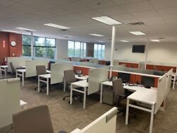 Cubicle/partition System W/ Glass By Knoll Dividends 5ft X 6ft X 50h