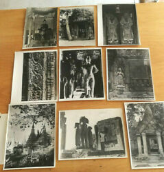 Photography Set Of 9 Photos Cambodia Temples Buddhism 1950/60 Asian