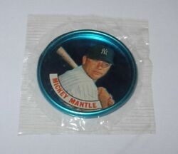 1965 Old London Coin Pin Unopened Sealed Wax Cello Pack Topps Mickey Mantle Mint