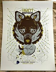 🔥 The Avett Brothers Sandpoint Id Aug 19th 2019 Poster Concert Print S/n /200