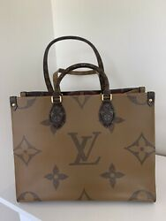 Authentic Louis Vuitton Limited On The Go Mm Tote Bag
