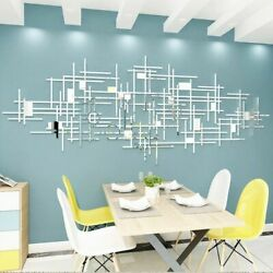 Geometry Mirror Acrylic Wall Stickers Living Room Wall Decoration Home Decor