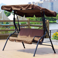 Garden Patio Swing Cover Set Waterproof Swing Canopy Seat Top Cover + Seat Cover