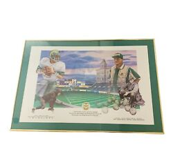 Colorado State Rams Csu Picture Frame 40x28 Large Sonny Lubick Signed Art Moreno