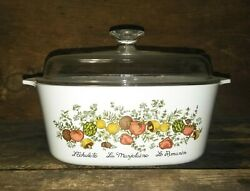 Corning Ware Vintage Pyrex A-5-b Lid Hologram Stamp Rare Spice For Life Dish
