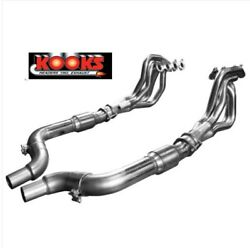 2015-21 Mustang Gt 5.0 Coyote 1-7/8andprime X 3andrdquo Kooks Headers Green Catted Pipes Cats