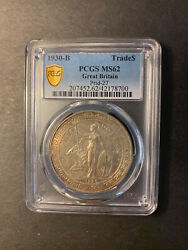 Great Britain Trade Dollar 1930 Bombay Toned Uncirculated Pcgs Ms62