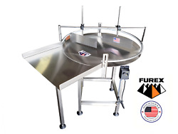 Furex 48 Dia. Stainless Steel Rotary Table With In Feed Table And Unscrambler