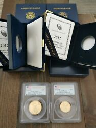 2012-w 25 10 Gold Eagle Pcgs Pr70dcam Proof Coin Pf70 First Strike Fs 1/2 1/4