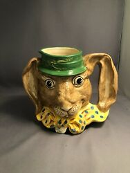 Vintage Royal Doulton Character The March Hare D6776 Large Size Toby Jug Mug