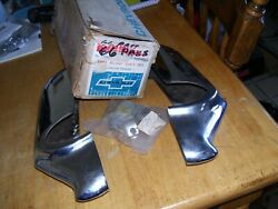 Nos 1966 Chevy Impala Ss Front Bumper Guards 986625 Gm Caprice Bel Air Rare