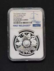 Uk 2021 Great Britain £2 Queen's Beasts Completer 1oz Silver Coin Ngc Pf69 Fr