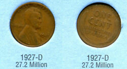 1927 D Wheat Penny Key Date Us Circulated One Lincoln Rare 1 Cent U.s Coin 4043