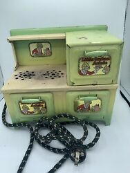 Vintage Little Orphan Annie Stove Toy Metal Oven Electric Marx Co Antique -great