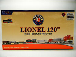 Lionel 120th Deluxe Lion Chief Plus 2.0 F3 Full Train Set O Gauge 2022120 New