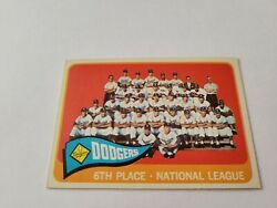 1965 Topps Baseball 126 Los Angeles Dodgers Team Card Nm To Nm/nm+