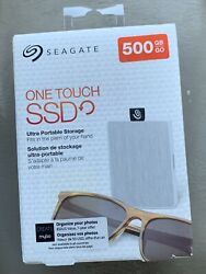 Seagate 500gb One Touch Ssd External Solid State Drive Portable Usb 3.0 White