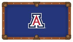 Arizona Wildcats Hbs Blue With Red And White Logo Billiard Pool Table Cloth