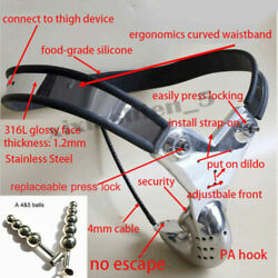 New Professional Male Chastity Belt Device Steel Wire Back And Pa Hook With Plug