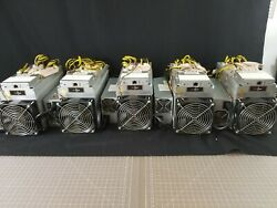 Lot Of 5 - Bitmain Antminer L3+ 504 Mh/s With Power Supply - Low Milage
