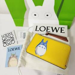 Loewe Totoro Collaboration Coin Card Holder Yellow Wallet Popular Sold Out F/s