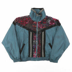 Vintage On Your Mark Green 00s Regular Casual Shell Jacket Womens M