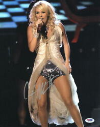 Carrie Underwood Signed Autograph 11x14 Photo - Country Music Babe Psa