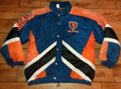Vintage Rare Might-mac Sports Chicago Bears Jacket Coat Fits Size Small Men's