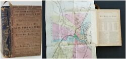 1881 Antique Hartford Ct City Directory W Foldout Map History Genealogy Ads