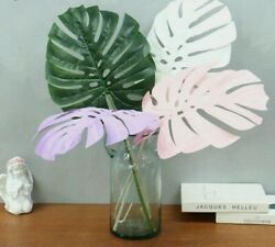 Wedding Material Artificial Flower Turtle Back Leaves Wall Plants Latex 72Cm New