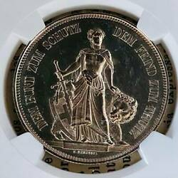 Ngc 1885 Switzerland Ms62 Bern Shooting Festival Silver Coin Francs Number Of