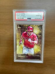 2015 Topps Mike Trout Archetypes A-4 Gem Mint Psa 10 Very Rare Low Pop