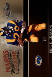 2006 Absolute Memorabilia Marks Of Fame Silver Rams Card 4 Eric Dickerson /250