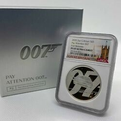 First Release 2020 United Kingdom 007 James Bond Lbs. Silver Coin Ounces Second