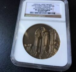 Old Coins Rare Coin 2014 Classic Garden Medal Yuan Ming Brass Ngc69 Ancient