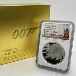 First Release 2020 United Kingdom 007 James Bond Lbs. Silver Coin Ounces Third