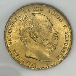 Rare Gold Coins 1872a Ms65 10 Marc Coin Germany Empire Wilhelm Ngc Prussia Mark