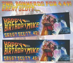 Back To The Future 3x1 Foot Personal Birthday Banners