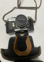 Vintage Canon Camera And Case - Fx 50mm Lens Fl 50mm 11.8 116143•free Shipping•