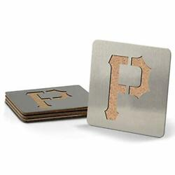 Mlb Pittsburgh Pirates Boasters Heavy Duty Stainless Steel Coasters Set Of 4