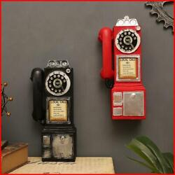 Vintage Rotate Classic Look Dial Pay Phone Model Resin Retro Booth Telephone