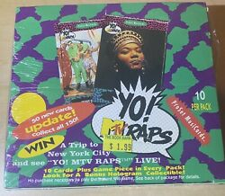 Yo Raps Mtv Rap Cards Sealed Box 36 Unopened Packs Of 90s Top Rappers Factory