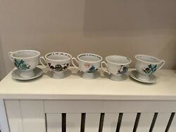 Hendricks Gin 5 X Tea Cups And 2 X Saucers Immaculate Condition Includes Uk Pandp