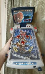 Vintage Marvel Spiderman 2 Table Top Pinball Machine 2004 Tested Neat Toy